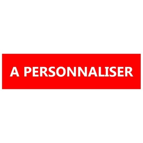 Adhésif rouge sécurisé impression blanche - A personnaliser - Rouleau 35mm x20m - l'unité