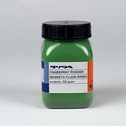 Poudre magnétique verte fluo ultra-fine - pot de 200 g