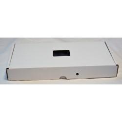 Boîte cartonnée pour scellé arme poing/couteau avec fenêtre - 40 x 20 x 5 cm - lot de 20