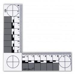 Equerre en plastique magnétique (ABFO) pour mesure photographique 10.5 x 10.5 cm - l'unité