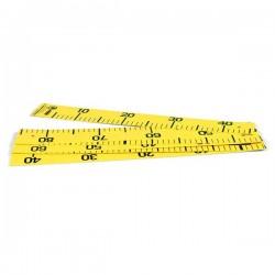 Grande règle photo jaune pliable - largeur 6.5 cm - longueur 2.55 m dépliée (cm/inch)