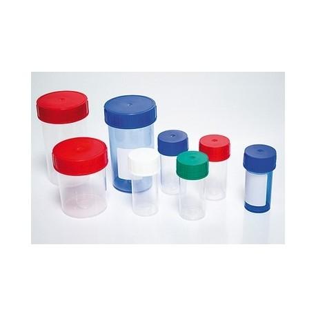Pot plastique avec couvercle à vis 250 ml - lot de 10