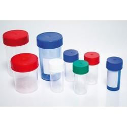 Pot plastique avec couvercle à vis 125 ml - lot de 10