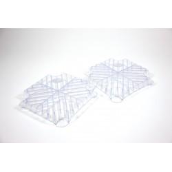 Kit plaque de cheminement plastique 30 x 30 cm - lot de 10