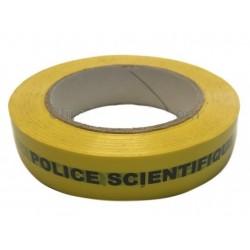 """Ruban adhésif Jaune """"Police Scientifique, Prélèvements ne pas ouvrir"""" 2.5 cm x 100 m - l'unité"""