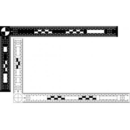 Equerre réversible 30 x15 cm noir/blanc - l'unité
