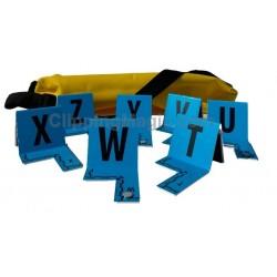 Plots de marquage bleus aimantés et lestés avec housse de transport - le lot