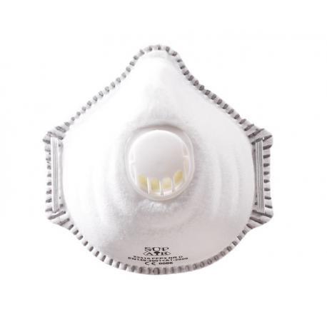 Demi masque de protection FFP3 avec soupape - 10 pièces