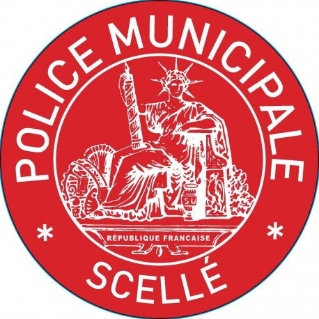 """Pastille adhésive VOID rouge sécurisée """"POLICE MUNICIPALE - SCELLE"""" - lot de 100"""