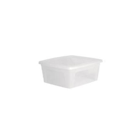 Boîte plastique avec couvercle - 3 L - l'unité