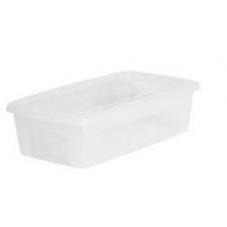 Boîte plastique avec couvercle - 5 L - l'unité