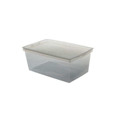 Boîte plastique avec couvercle - 10 L - l'unité