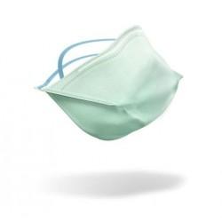 Demi masque filtrant FFP3 bec de canard vert avec liens SANS SOUPAPE - l'unité